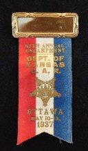 1937 Ottawa, Kansas, G.A.R. Badge/Ribbon