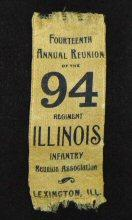 Reunion Ribbon For the 94th Illinois Infantry at Lexington, Illinois