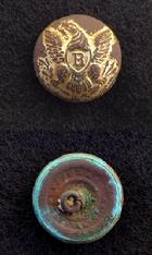 Beautifully Gilted Eagle -R- Riflemans Overcoat Button
