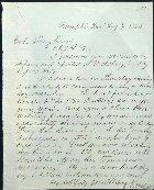 Original Letter From Quartermaster Captain at Memphis, Tennessee to Chief Quartermaster at Vicksburg, Mississippi.