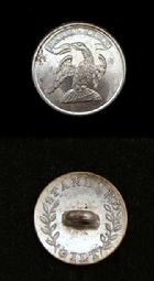 Nice Silver Plated ca. 1815-1830 NY12 New York Militia Vest Button
