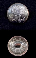 Beautiful Silver Plated 1-Piece US Artillery Coat Button