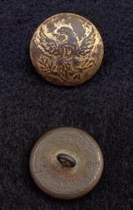 Beautifully Gilted US Eagle -D- Dragoon Coat Button w/Shank