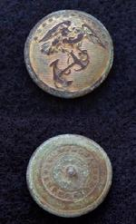 Beautiful Excavated Pre-War MC7 US Marine Corps Coat Button