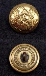 Beautifully Gilted Eagle -A- Artilleryman's Coat Button - Rmdc