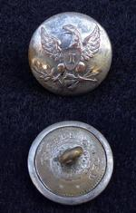 U.S. Silver Plated Eagle -I- Infantry Coat Button