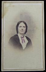 Nice Hand-Colored Cdv of Prominent Arkansas Lady - Taken Across from Federal Headquarters in Little Rock by Gem Gallery