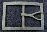Very Fine Excavated Confederate Forked Tongue/Wishbone Waist Belt Buckle