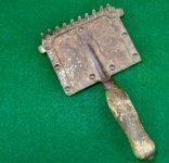 Very Nice Civil War Period Horse Curry Comb
