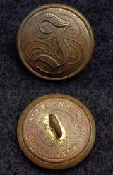 Beautiful Non-Dug CS175, Confederate Manuscript -I Infantry Coat Button
