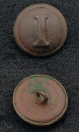 Fine CS182 Confederate Block -I Infantry Coat Button