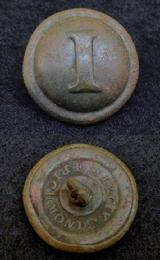 Fine CS181 EML & C Richmond, VA., Confederate Block -I- Infantry Button