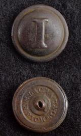 Beautiful Dug CS181 Confederate Block -I Infantry Coat Button