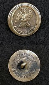 Nice ca. 1820's NY10 New York Militia Button with Silver Plate Remnants & Cloth Still in the Loop