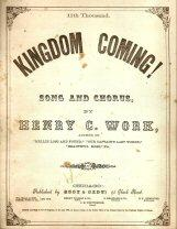 "Original Complete 1862 Sheet Music - ""Kingdom Coming"" - About Slaves Getting their Freedom when Federal Gunboats Arrive"