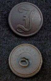 Beautiful Dug CS177 Confederate Script I Infantry Button