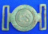 Beautiful Excavated Two Piece Confederate CS Tongue & Wreath Waist Belt Plate