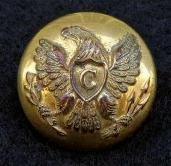 Beautiful CV1 U.S. Cavalry Eagle -C- Overcoat Button