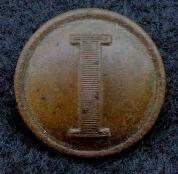 Beautiful Confederate CS172 Lined -I- Infantry Coat Button
