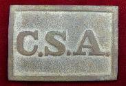 Outstanding Dug Atlanta Arsenal CSA Waist Belt Plate - Recovered Dalton, Georgia