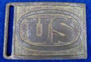"Super Nice Displaying Dug US 1872 ""Hagner"" Waist Belt Plate - Indian Wars Period Plate & Likely the Same ""Pattern"" Plate Worn by Custer's Men at the Little Bighorn."