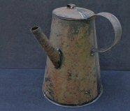 Nice Tin Coffee Pot w\Soldered Construction and Long Spout