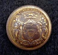 Well Worn but Beautiful Non Dug WC1 Wisconsin State Seal Staff Officer Button
