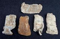 Five Large Sections of Lead/Tin Sabot from 3.8 Inch Caliber James Artillery Shells - Recovered Prairie Grove, Arkansas.