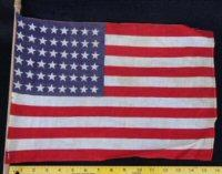 Nice ca. 1912-1959 48 Star U.S. Parade Flag on Original 32 Inch Staff - G.A.R. Parades, WWI, WWII Parades