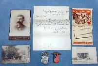Fine Group of Badges, Special Orders, Photos, and Other Items Belonging to Augustus H. Patterson, Drummer Boy, Co. G, 50th New York Engineers