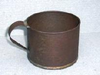 Click Here to see several Tin Cups in Period Images and Read About them.