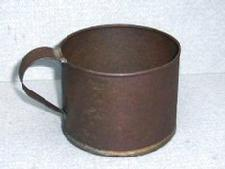 Click Here to Read About, and See several different types of Tin Cups in Period Images.