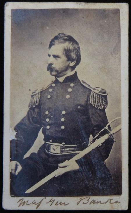 Nice Armed Cdv of US General Nathaniel Banks