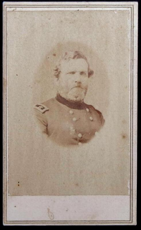 "Cdv of US General George Thomas - the ""Rock of Chickamauga"" with blue tax stamp."