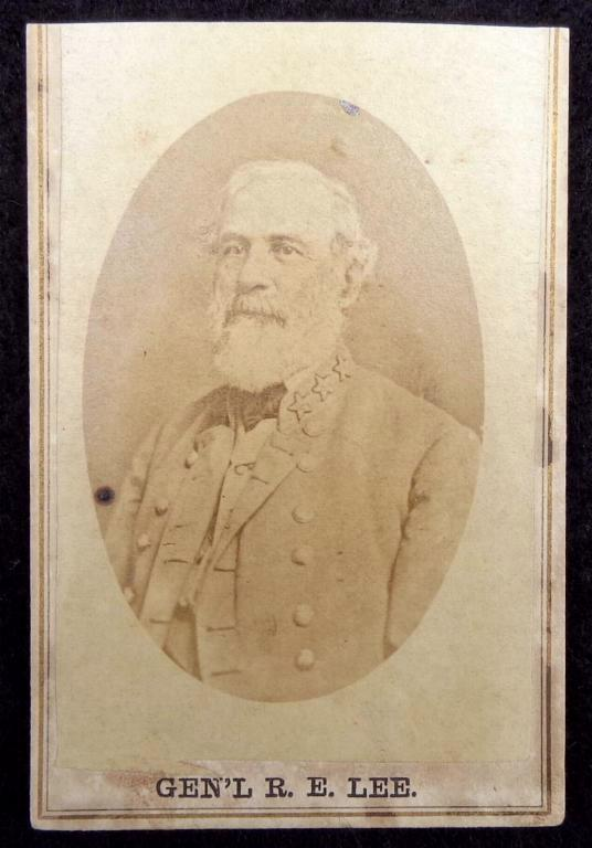 Fine From Life Cdv of Confederate General Robert E. Lee by The Monumental Bookstore in Baltimore, Maryland