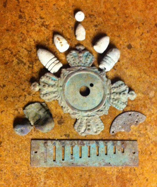 More of Jim Trammell's house site relics from old Carroll County, Arkansas.