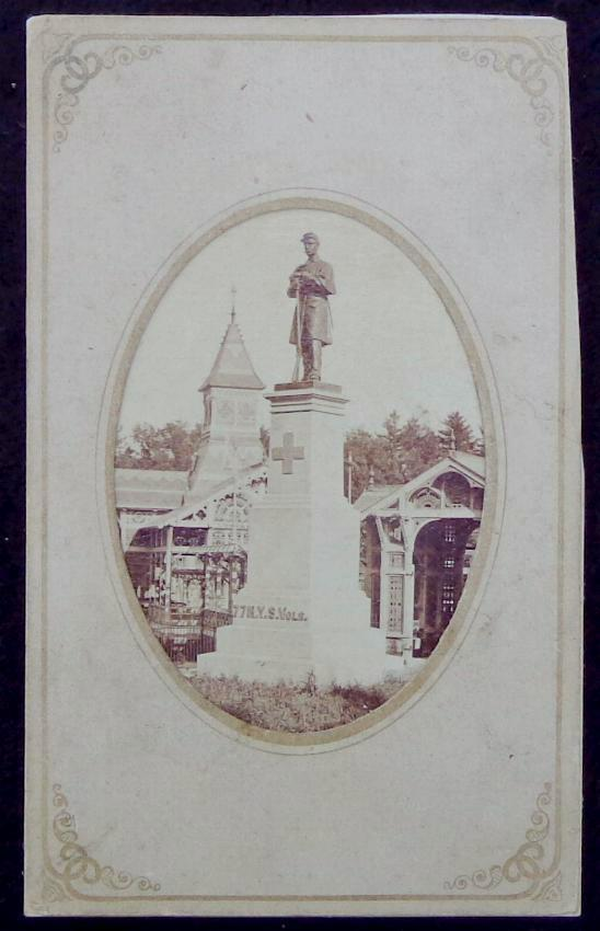 Fine Cdv Image of the Monument to the 77th New York Infantry at Congress Springs, New York