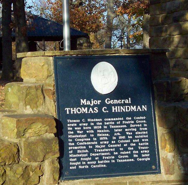 General Thomas Carmichael Hindman Monument at the base of the Rhea's Mills, Stack