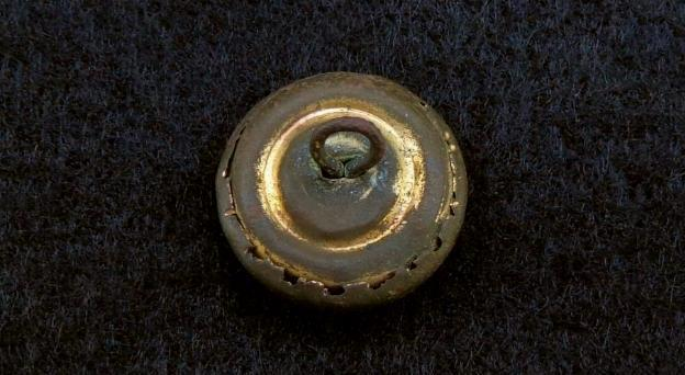 Beautiful CS27 Confederate Staff Officers Button w/Lots of Gilt & Intact Shank - Recovered Tennessee
