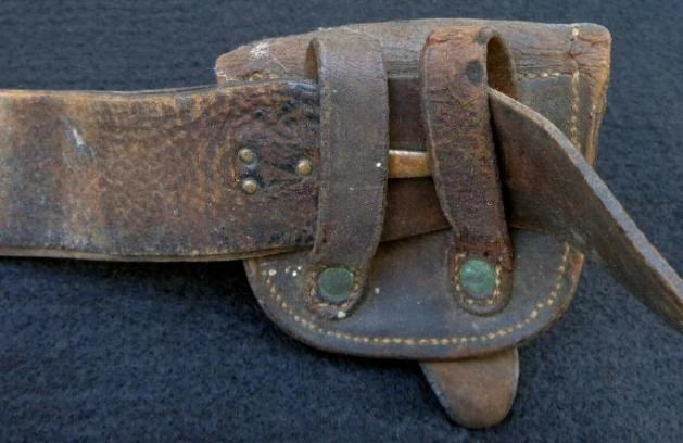 Civil War Period Cavalry Officers Belt Rig with Fine 1851 Belt Plate, Sword Straps & Hangers, Cap Box, & Pistol Cartridge Box
