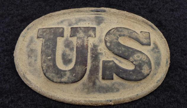 "Beautiful Dug ""W.H. Smith"" Maker Marked U.S. Box Plate with Both Iron Loops Intact."