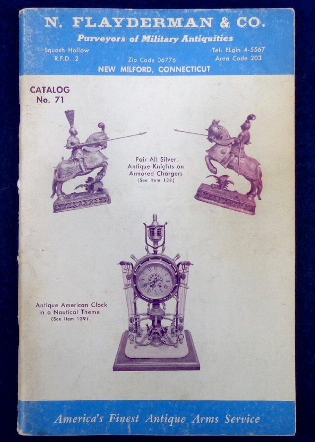 Old Flayderman Military Antique Catalog No. 71