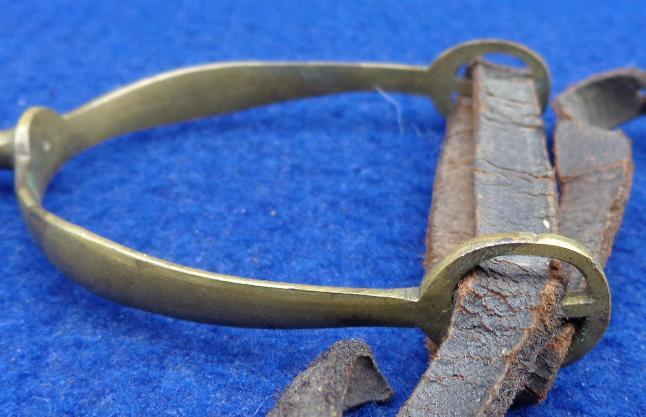 "Fine Civil War Period Brass Civilian or ""Commercial"" Horse Spur w/Strap"