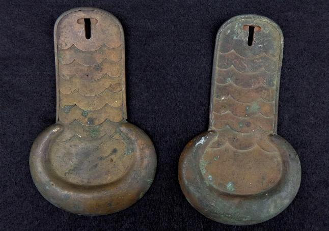 Superb Looking Pair of Relic Brass Epaulets or Shoulder Scales