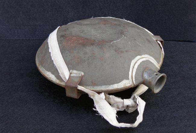Nice US 1858 Smoothside Canteen with Pewter Spout & Partial Strap