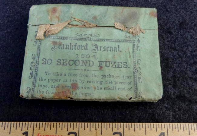 Nice Original Full Packet of Frankford Arsenal 20-Second Fuzes - Dated 1864