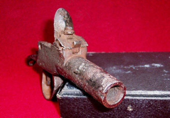 Excellent Dug Large Caliber Flintlock Boot Pistol