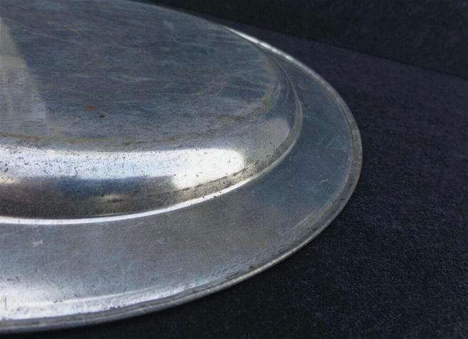 Fine Civil War Tin Mess or Table Plate - Nine Inches Diameter