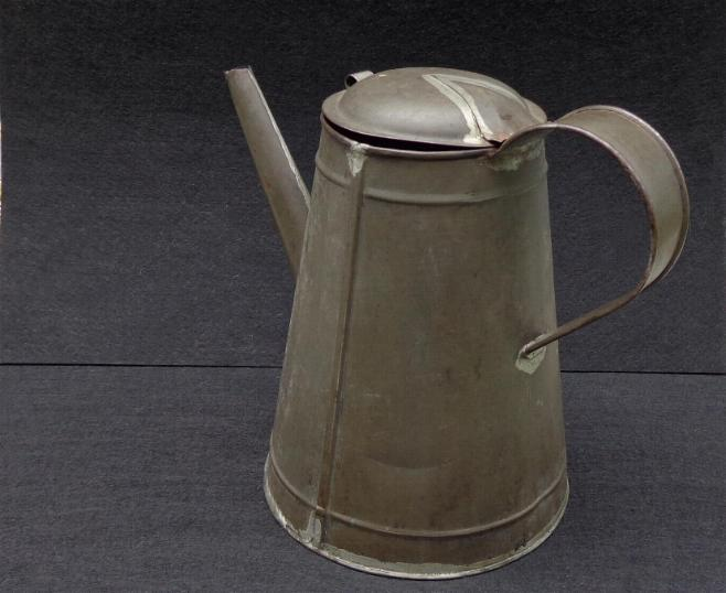 Fine Civil War Period Soldered Tin Coffee Pot - With Long Front Spout