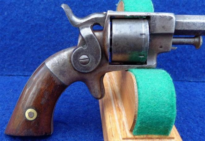 Nice Fully Functional Little ca. 1860's Allen & Wheelock 7-Shot .22 Caliber Side Hammer Revolver